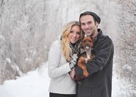 winter photography couple dog christmas card christmas