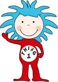 images for cat in the hat thing 1 and thing 2 clip art clipart