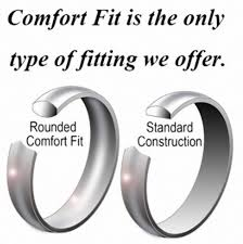 comfort fit ring king will basic men wedding black tungsten ring 8mm matte finish