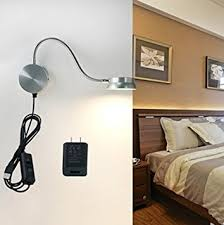 Bedroom Wall Lights With Switch Led Wall L Waycom 6w Gooseneck Reading Light Silver