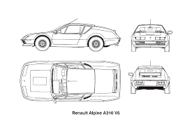 renault alpine a310 clipart renault alpine a310 v6 year 1977