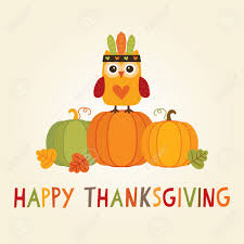 happy thanksgiving day card poster or menu design with