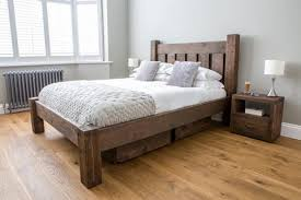 White Wood King Bed Frame Reclaimed Wood Bed Frame With Charcoal Bed Frame With Rustic White