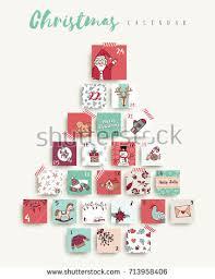 christmas advent calendar christmas advent calendar season stock vector