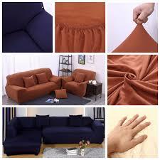 Flexible Sofa L Shape 3 Seat Stretch Elastic Fabric Sofa Cover Pet Dog