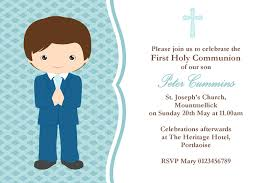 Invitation Card Sample Wording Personalised Ideas First Communion Invitation Cards Boy Picture