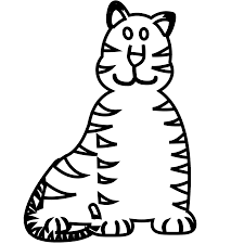 tiger black white clipart panda free clipart images
