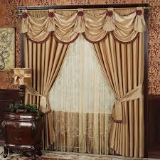 top window treatment hang tied drapes using doorknobs floral sofas top window treatment hang tied drapes using doorknobs floral sofas chairs decorating ideas cozy wooden frame living room and dining curtain ideas modern