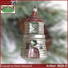 tree ornaments lighthouse glass figure glass shape