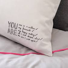 you are all i about pillowcase by karin åkesson design