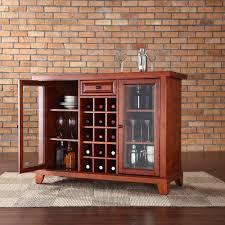 Crosley Bar Cabinet Crosley Furniture Newport Sliding Top Bar Cabinet In Classic