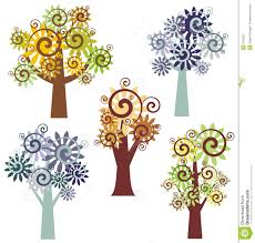 tree design series stock image image 2373091