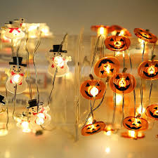 copper wire lights battery 20led fairy snowman pumpkin copper wire battery operated string