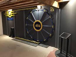 fan builds real life fallout vault door for gaming room nerd reactor