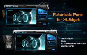 futuristic album panel for xwidget by jimking on deviantart
