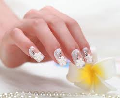 2014 color twill clear stiletto nails decorated designs 3d