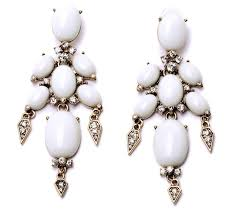 Big Chandelier Earrings Wholesale Fashion White Gem Rhinestone Statement Long Chandelier