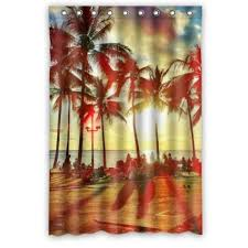 Palm Tree Bathroom Accessories by Cheap Palm Tree Fabric Shower Curtain Find Palm Tree Fabric