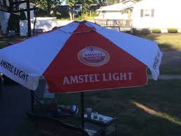 Budweiser Patio Umbrella Amstel Light Patio Umbrella Brand New In Box Large 7 Foot Patio