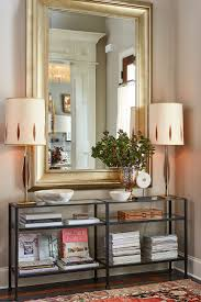 Mirrored Entry Table Narrow Mirrored Entry Table Home Table Decoration