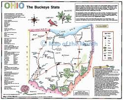 Map Of Ohio by Ohio Map Maps For The Classroom