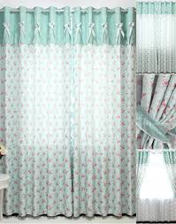 fabric to make curtains in country style features flowers and leaf