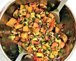 heirloom tomato panzanella salad with capers u2013 msfw studio