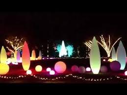 Botanical Garden Atlanta Lights Holiday Garden Lights At The Atlanta Botanical Gardens Youtube