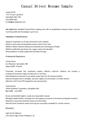 Truck Driver Resume Examples Resume Experience Examples For Work Sample In 23 Outstanding How