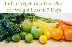 7 days meal plan indian vegetarian diet chart for weight loss