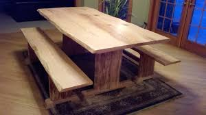 Painted Oak Dining Table And Chairs Dining Room Chic Natural Solid Oak Woods Dining Table With Bench