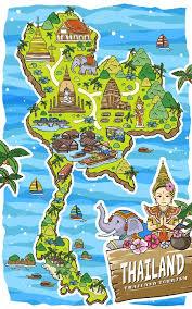 thailand vector map adorable thailand travel map stock vector kchungtw 93144004
