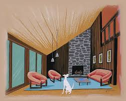 mid century modern dog paintings by linda tillman dog milk