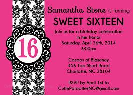 16th birthday invitations u2013 gangcraft net
