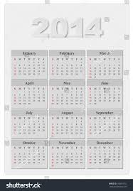 calendar 2014 year template stock vector 148654751 shutterstock