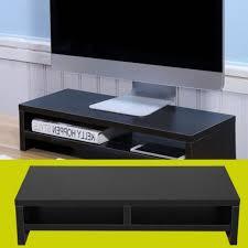 Office Desk Risers Computer Monitor Stand Desk Table 2 Tier Shelves Laptop Riser Tv