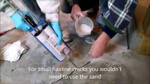 concrete floor repair how i repair cracks in concrete