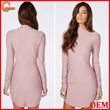 high neck long sleeves mini dresses design with androgynous curved