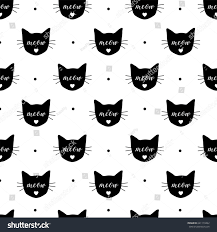 repeat halloween background seamless pattern black cats vector eps10 stock vector 641119462