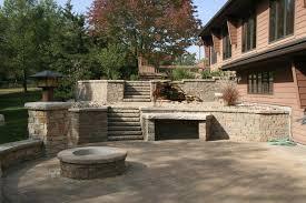 patio ideas pavers decor best outdoor patio ideas with winsome unilock fireplace