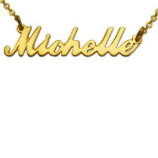 Gold Plated Name Necklace Gold Plated Script Name Necklace Gpnn 01