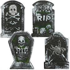tombstone decorations 10 25 x 15 polyfoam rip graveyard tombstone