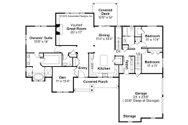 side split house plans cainelle craftsman ranch home plan 051d