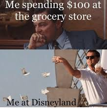 Disneyland Memes - me spending 100 at the grocery store me at disneyland anaconda