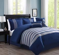 Navy Stripe Comforter Set Bedding Appealing 2 Piece Reversible Comforter Set Tonal Stripes