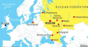 russia world cup cities map world cup 2018 around the grounds