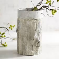 Display Vase Birch Concrete Vase