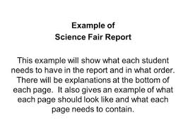 science fair report template how to write a science fair project report