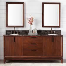 Modern Bathroom Sink And Vanity by Double Sink Walnut Vanity Signature Hardware