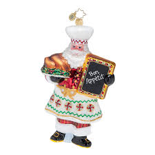 radko exclusive 2017 radko cooking claus glass christmas ornament